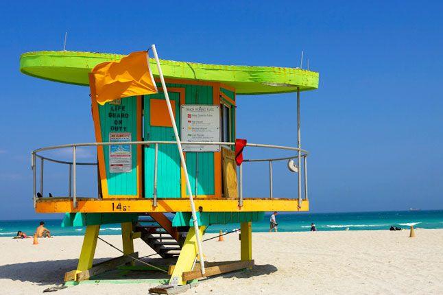 Miami (USA) lifeguard tower/art combined