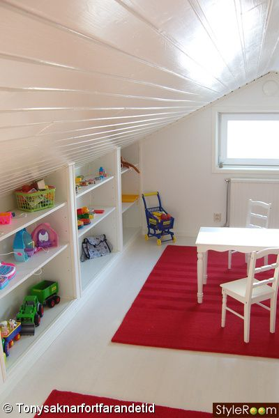 toy shelves *Pinning for attic roof idea* More