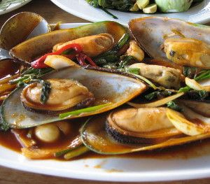 Grilled Green Mussels with Cumin Recipe