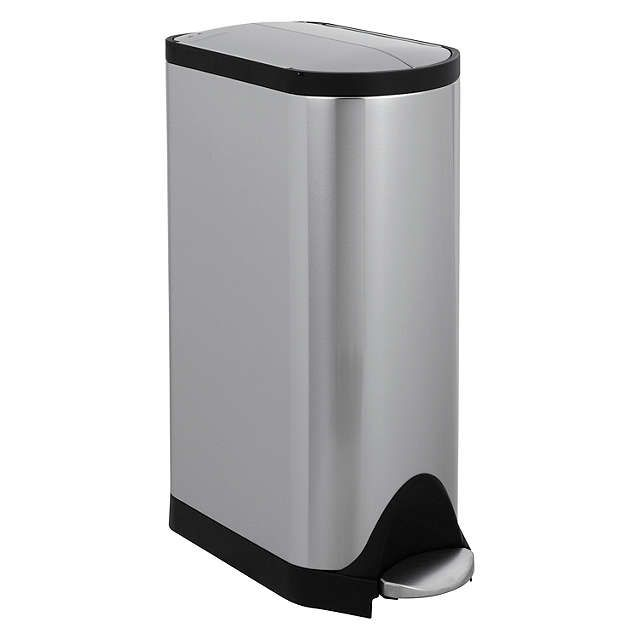 Buysimplehuman Butterfly Pedal Bin, Brushed Stainless Steel, 30L Online at johnlewis.com