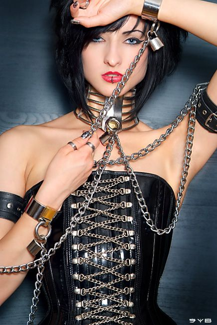 collars and cuffs + femdom