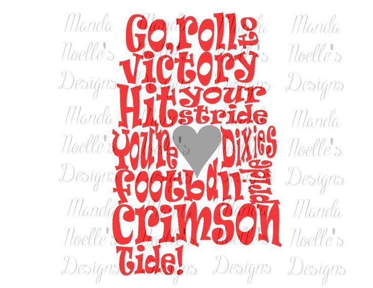Alabama Crimson Tide Fight Song SVG DXF Print Silhouette