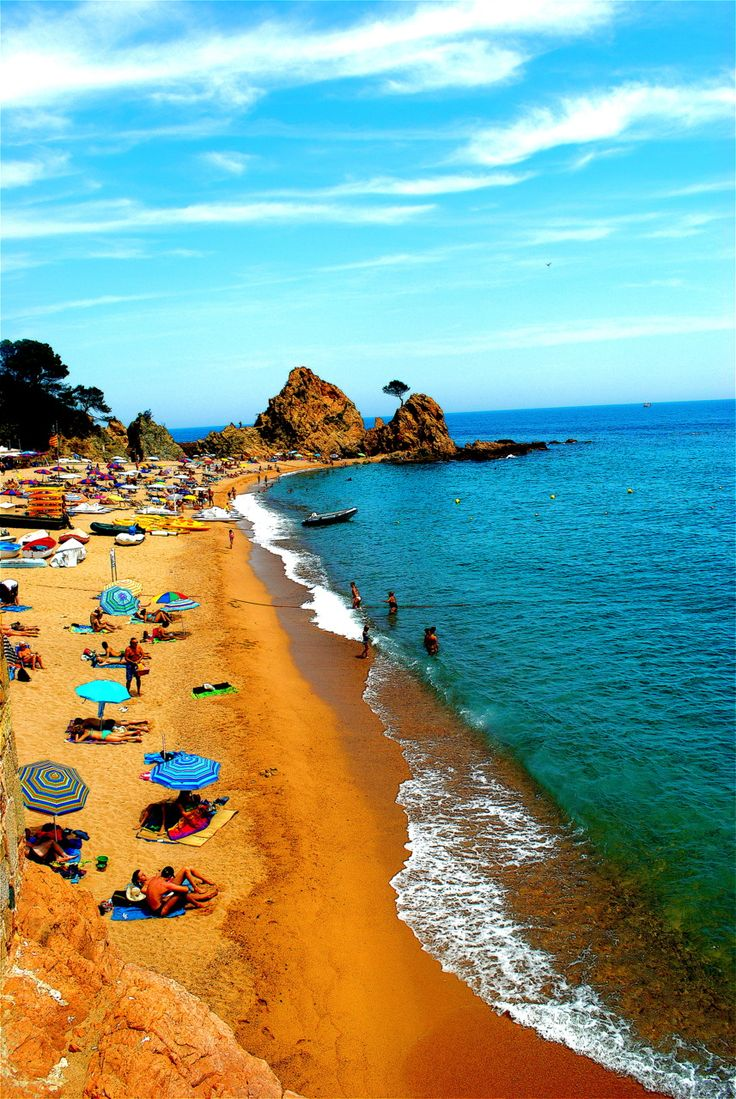 Tossa de Mar, Spain I spend countless hours on this beach!