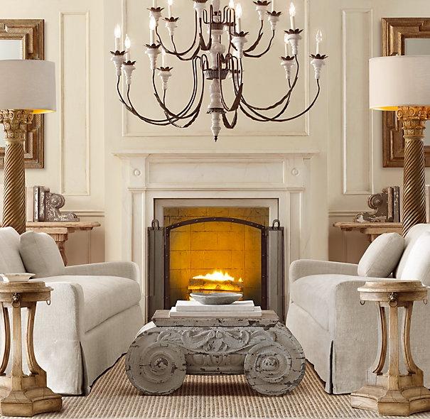 about restoration hardware livingroom on pinterest living rooms