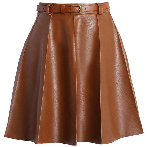 25 best ideas about brown leather skirt on