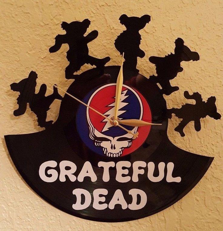 Grateful Dead Real Record Album Clock