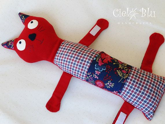 Seatbelt Pillow/ Cat by CieloBluHandcrafts on Etsy