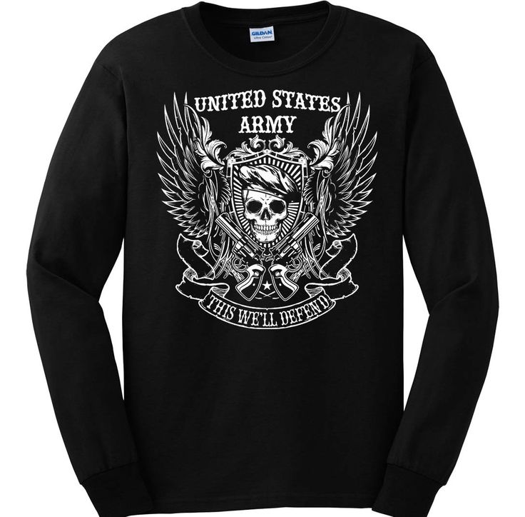 """Bundle of 3 items. United States Army. This We'll Defend. 4XL Black Long Sle. Bundle of 3 items: T-shirt, Pocket Constitution & 4.5"""" decal. Official Sons of Liberty Tees® Gear. Printed in USA. Military Tees. Screen Printed on a Long Sleeve Port and Company shirt, imported. 6.1 oz. 100% Pre-Shrunk Cotton Tee. Military Tees, Pro-America and Patriot Apparel - made by a small American owned business, by a couple of die hard patriots. Long Sleeve Shirt is roomy, not fashion cut. ATTENTION…"""