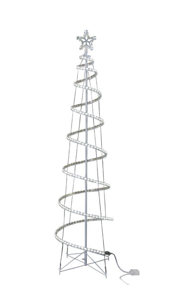 Ge Christmas Tree Lights.Ge 7 Ft Motion Spiral Rope Light Tree 306 Led Lights 8
