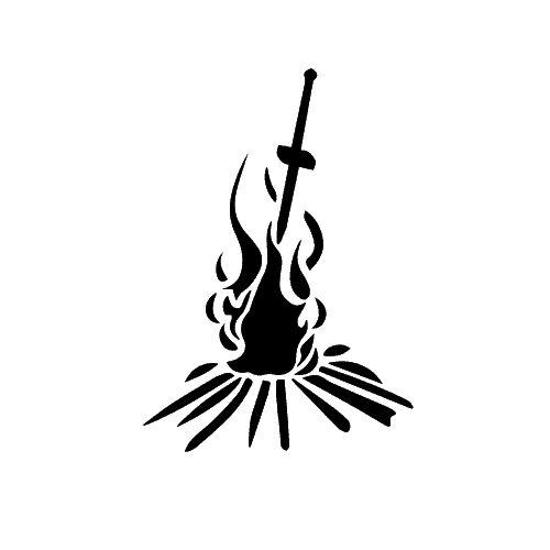 Dark Souls Bonfire template for cake