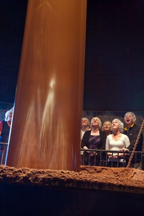chocolate waterfall. cadbury world in dunedin. uhm. yes.