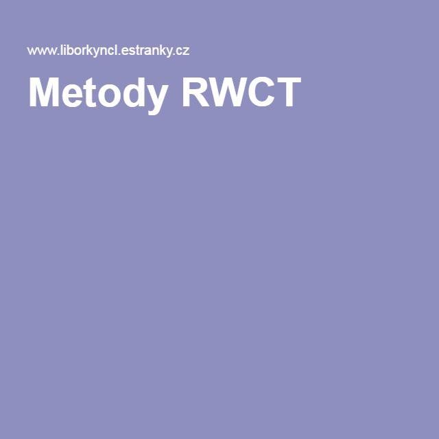 Metody RWCT
