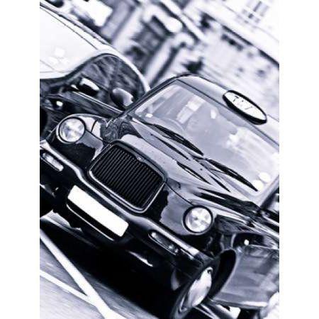 Black Cab London Taxi Canvas Art - Assaf Frank (18 x 24)