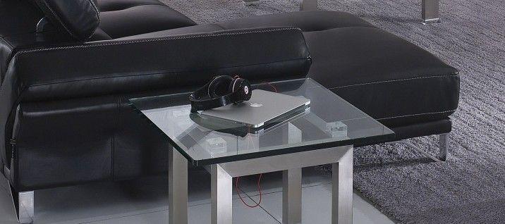 Crystal G865 Glass SideTable