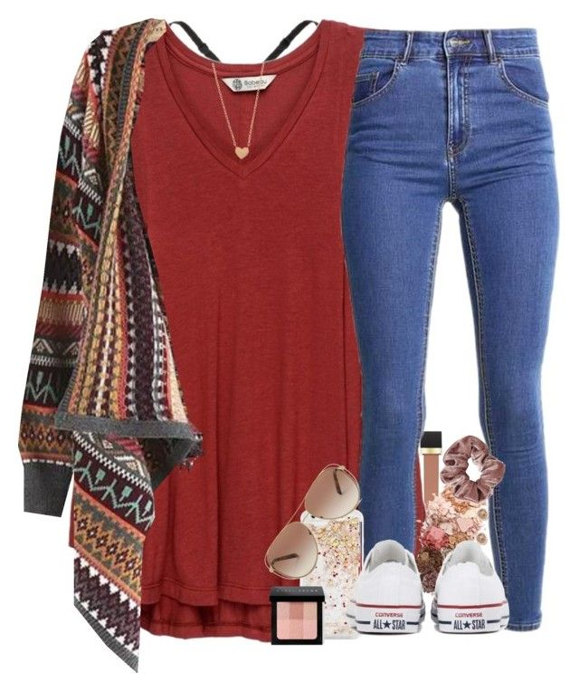 """""""May fall bring joy to you all✨"""" by southernstruttin ❤ liked on Polyvore featuring Jouer, Body by Victoria, Bobeau, ban.do, Sigma, Converse, Artisan, Bobbi Brown Cosmetics and Michael Kors"""