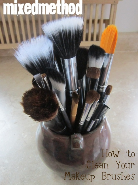 How to clean your make up brushes with only two ingredients you already have.
