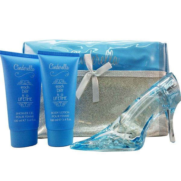 Stunning Disney Princess Cinderella Glass Slipper Eau De Parfum 2.0 oz, Body Lotion 3.4 oz, Shower Gel 3.4 oz & Cosmetic Bag.Princess Cinderella by Disney is a floral and fruity fragrance, ideal for women, girls and children. Thisfruity and floralchildren's perfume's main accords are citrus, sweet, fruity, fresh, and white …