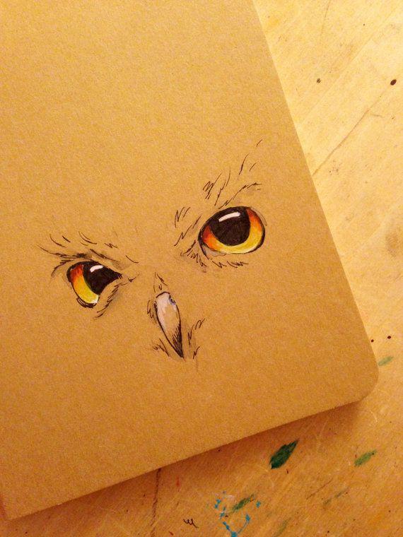 Handdrawn Owl Moleskine Notebook Journal
