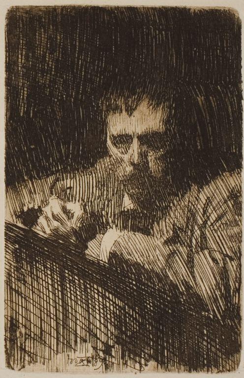 "Anders Zorn (Swedish, 1860-1920),  ""Self Portrait,"" 1889."