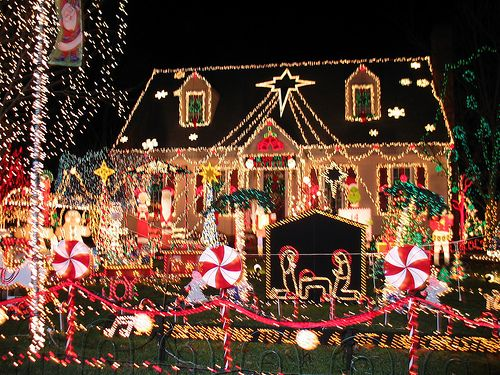 Pictures Of Houses Decorated For Christmas 34 best crazy christmas houses images on pinterest | holiday
