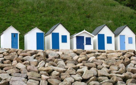 Les cabines de plage, Barneville Carteret