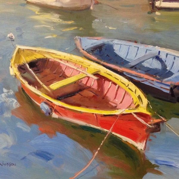 Image result for watercolor of dinghy boats