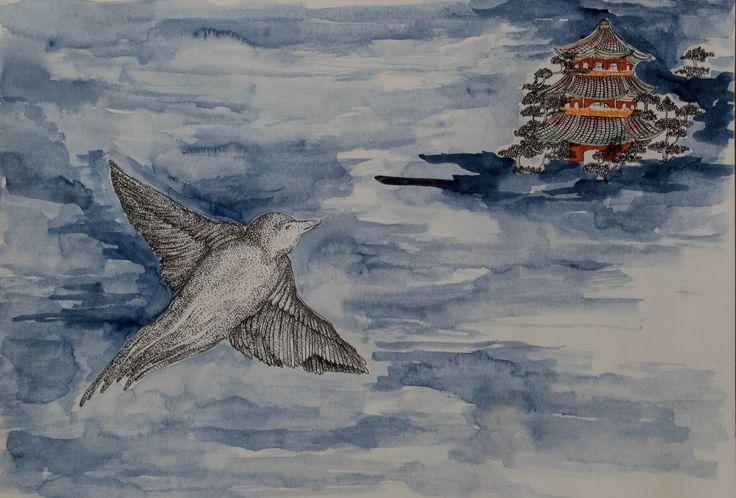 #fairytale , #Chinese , #Emperor , #HansChristianAndersen #childrensbook #illustration #chinese fairytale, #aquarelle, #book #fineart #nightingale , #arted , #education , #elemed , #kidlit , #picturebooks , #storyappchat , #kidbooks