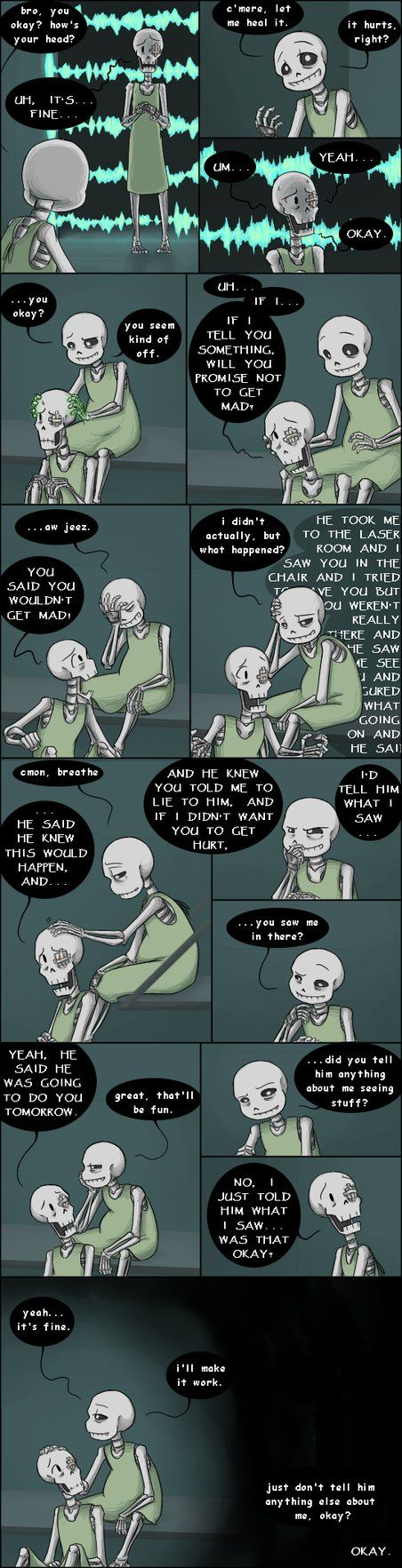 An Undertale AU where Sans and Papyrus were experiments of Gaster's and a whole lot of suffering ensues. Each comic is usually about a stand-alone moment, but they're in roughly chronological order...