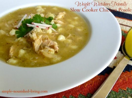 Slow Cooker Chicken Posole Soup