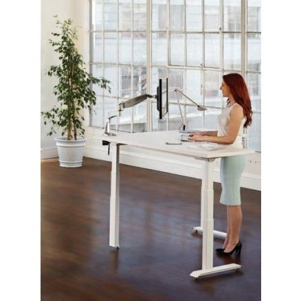 Workrite L Shape Standing Corner Desk - Essentia.  FREE shipping in Canada at Ugoburo.ca