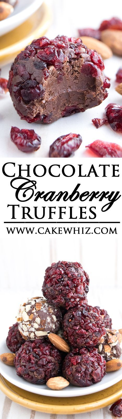 These fudgy CHOCOLATE CRANBERRY TRUFFLES are really simple to make with just 3…