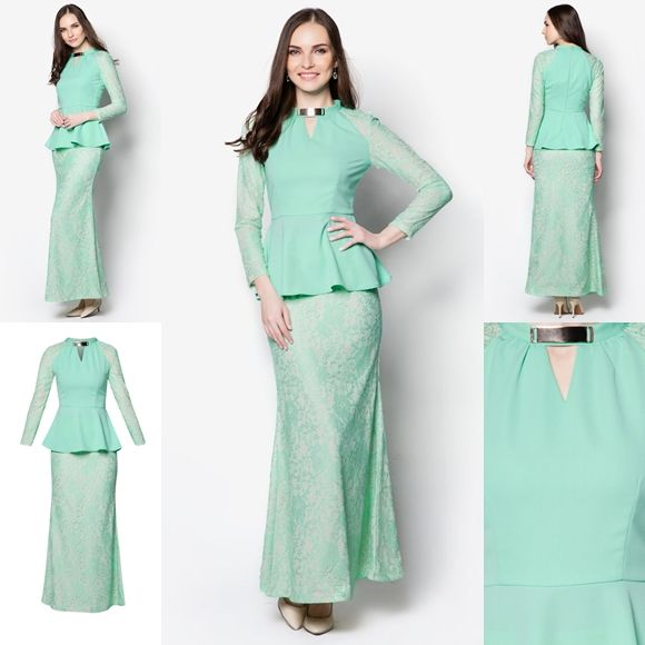 Baju Kurung Moden Peplum Minimalis Baju Raya 2016 Fesyen Trend Terkini