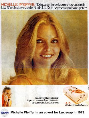 Michelle Pfeiffer in an Ad for Lux Soap, 1979