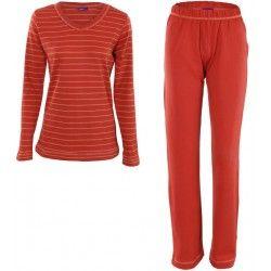 Pijama mujer otoño cuello pico 100% algodón orgánico Living Crafts