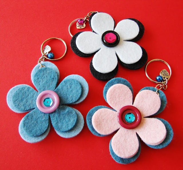 Flower keystring