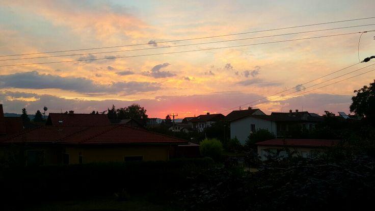 Yesterday sunset over Mohelnice-the Czech Republic. Author-Tereza Večerková