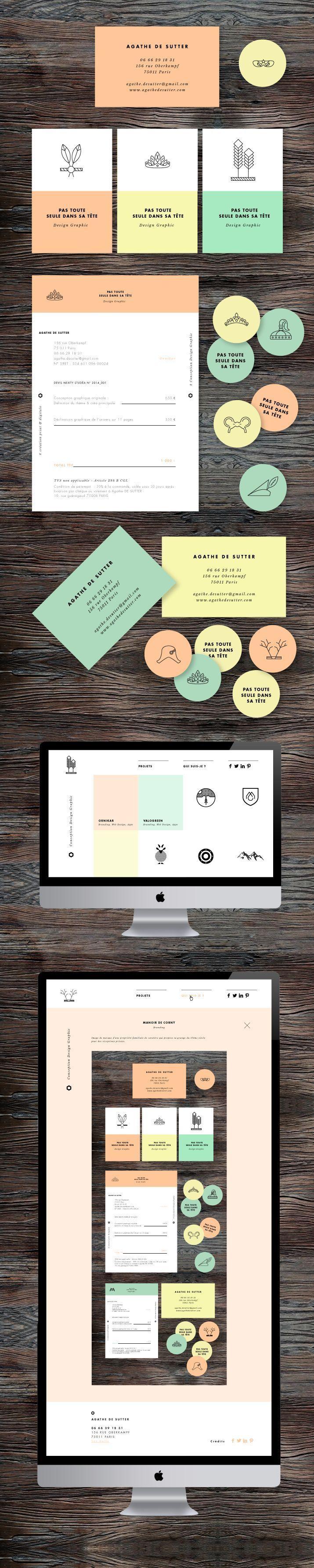 Identité visuelle et design d'Agathe de Sutter #branding #graphic #design