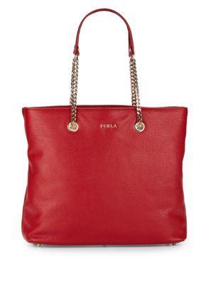 FURLA Julia Chain-Accented Leather Shoulder Bag. #furla #bags #shoulder bags #hand bags #leather #