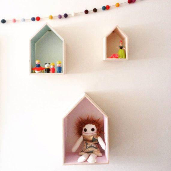 House shaped shelf. Small Medium & Large by Mapetitehouse
