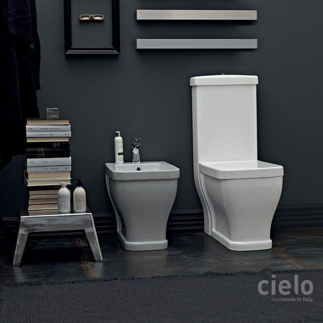 Tondo monoblock toilet with cistern White Opera - WC White bathroom Ceramica Cielo