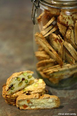 Biscotti Two Ways - Cardamom-spiced Date and Pistachio Biscotti / Almond and Apricot Biscotti