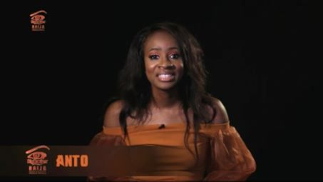 Big Brother Naija housemate, Anto told her fellow housemate, K Brule, that she had sex with different guys in the past and she can't lie about that.  Anto denied K Brule a kiss on Saturday before he went ahead to jump which led to his injury and punishment from Big Brother. Anto is Tolu's partner.   ##BBNaija!AntoRevealedASecretAboutHerToHousemates