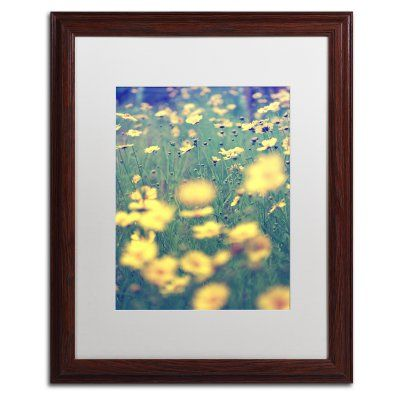 Trademark Fine Art Field of Dreams Matted Framed Art by Beata Czyzowska Young Brown Frame/White Matte - BC0173-W1114MF