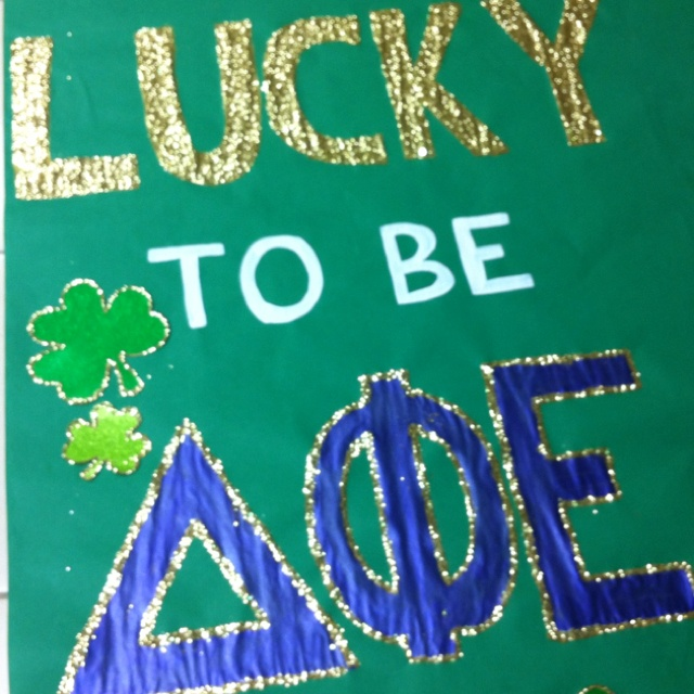Banners / Posters | Delta Phi Epsilon | lucky to be a DPhiE #greek #sorority #recruitment