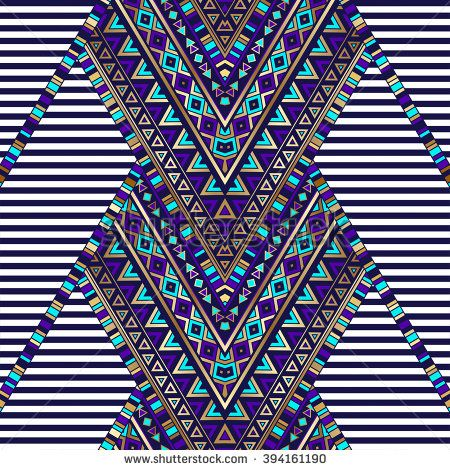 zigzag tribal Navajo vector seamless pattern with black and white stripes. aztec abstract geometric art print. ethnic hipster backdrop. Wallpaper, cloth design, fabric, paper, wrapping, textile, weave