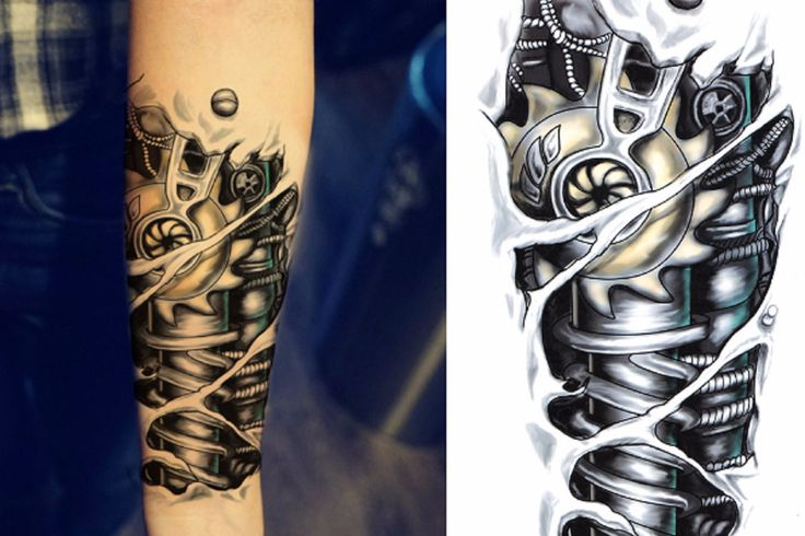 Bionic Arm Temporary Tattoo Sleeve