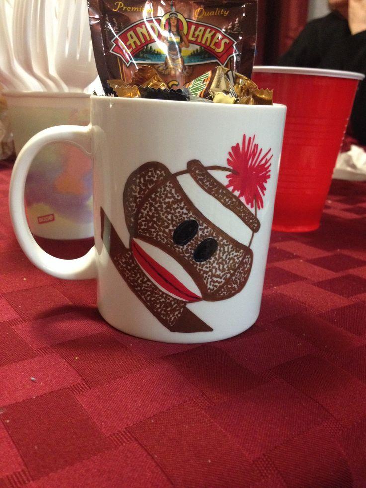 Sharpie mug #sockmonkey #sharpiemug #diy