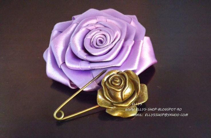 Ellys Shop: Brosa trandafir bronz