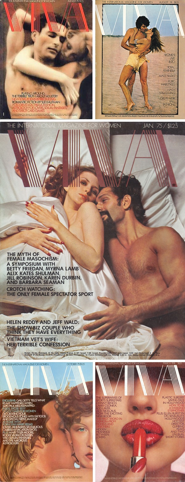 Like its competitor, Playgirl magazine, Viva — The International Magazine for Women premiered in 1973. It was published by Penthouse magazine's Bob Guccione and his wife, Kathy Keaton, as a companion title for women.