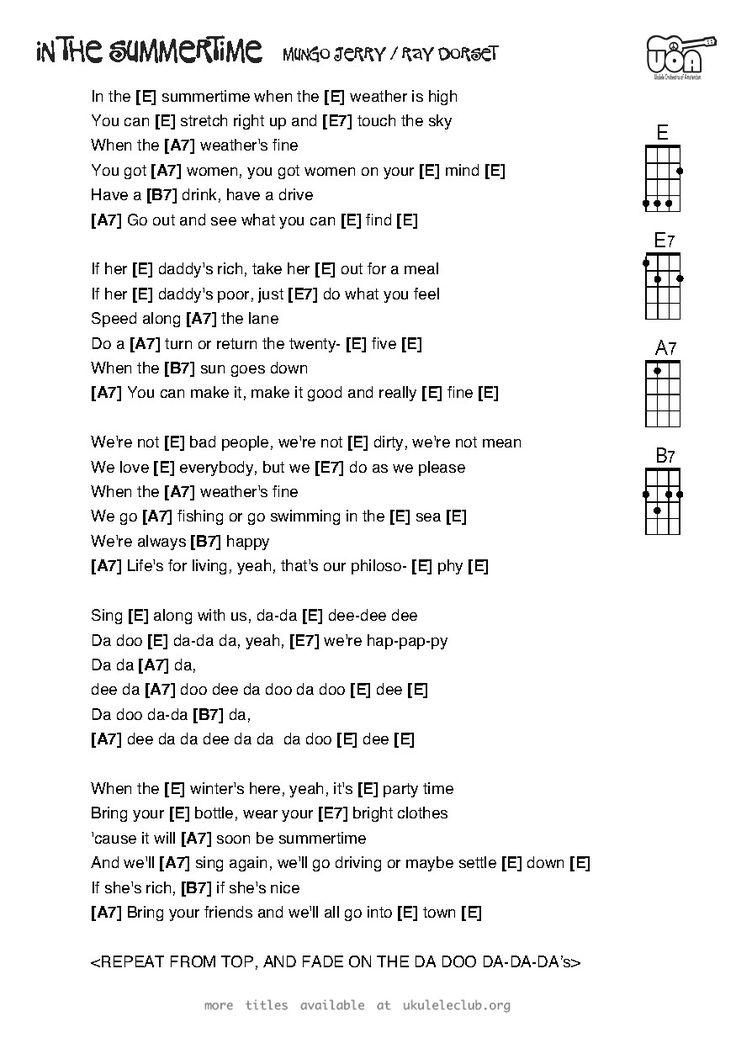 406 best Ukelele Music images on Pinterest | Ukulele chords ...